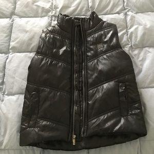 Boys Calvin Klein Jeans Puffer Vest, Black, Sz 3T